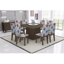 Conjunto De Mesa Acácia Com 8 Cadeiras - Mobisul