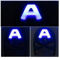 Capitão America Mascara De Luz De Led