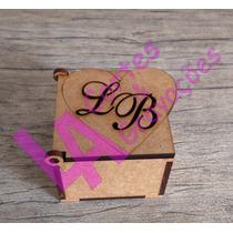 Caixinha Personalizada Casamento Iniciais Vazadas Mdf Crú
