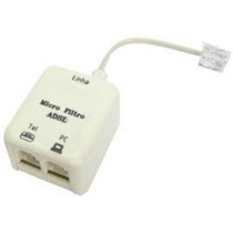 Micro Filtro Adsl Duplo Ou Simples + Rj11 Incluso