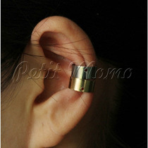 Ear Cuff Simples Daily Coringa - Prata E Dourado