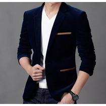 Blazer Slim Fit Luxo Casual Masculino Importado Veludo