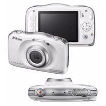 Câmera Nikon Coolpix S33 -10 M + Bolsa+32gb Classe 10+tripé