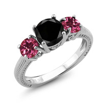 Black Diamond Sterling Silver Ring