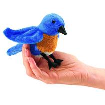 Marionete De Dedos - Folkmanis - Mini-pássaro Azul - 2755