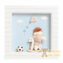 Nicho Porta Maternidade 1 Led Nome Bebê - Menino Brinquedos