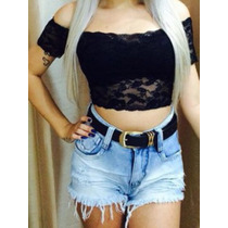 Cropped Ciganinha Renda