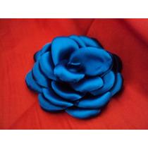 Rosa Azul De Cetim Para O Cabelo Mãe Dos Noivos Casamento