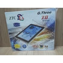Tablet Função Celular 2 Chips Tv Gps Dual Core Branco Lacrad