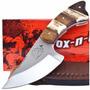Faca Fox-n-hound Fh-620 Skinner C/ Bainha De Couro Caça