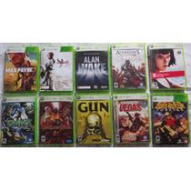 Lote Pacote Kit 10 Jogos Xbox 360 Originais - Seminovos