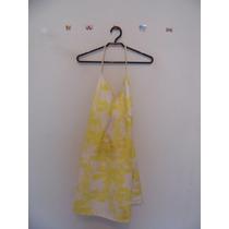 Vestido Estampado Amarelo Frente-única Cód. 413