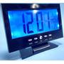 Relógio Digital Mesa Iluminação Alarme Termômetro Calendário