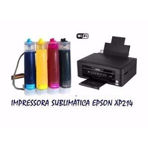 Impressora Epson Xp214 + Bulkink Elegance +400ml Sublimática