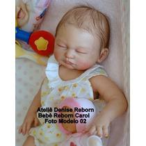 Boneca Bebê Reborn Carol Corpo Inteiro Em Vinil Siliconado