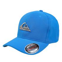 Boné Quiksilver Flexfit Letreiro Com Logo De Metal Azul Bebe