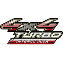 Adesivo 4x4 Turbo Intercooler Hilux 2009