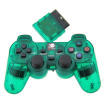Controle Sem Fio Playstation 2 2.4ghz Dualshock Ps2 Verde