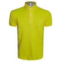 Camisa Polo Ricardo Almeida Amarela Lisa Pima