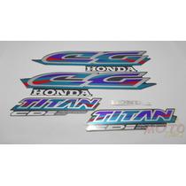 Adesivo Faixa Moto Honda Cg Titan 125 Grafite 97