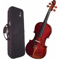 Violino Com Estojo Extra Luxo 4/4 Ve441 Eagle + Case Luxo