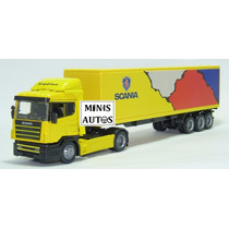 Miniatura Carreta Baú Scania R124 400 New Ray Escala 1/43