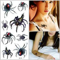 Tatuagem Temporaria 3d Muito Real Aranha 3d