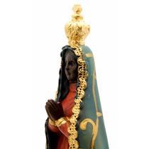 Imagem Escultura Nossa Senhora Aparecida 21,5cm Italian Styl