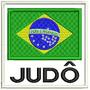 Bordado Termocolante - Bandeira Brasil Judô Fb 8x7,5cm