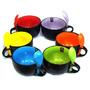 Caneca Sopa Bowl Com Colher - Cerâmica - Hércules -