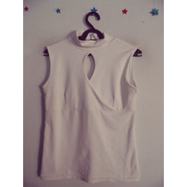 Blusa Feminina Branca Decote Gota Cód. 99 A 100