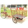 Bicicleta Triciclo Carga Dianteira Grade