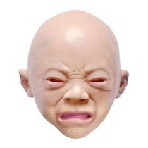 Máscara De Bebê Látex - Ideal Para Halloween, Carnaval