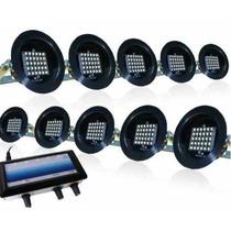 Kit Led Sequencial 10 Canhões C/ Strobo, Rítmico, Automático