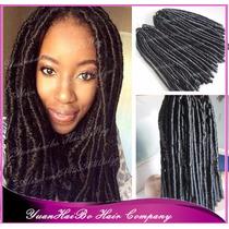 Aplique Mega Hair Alongamento Dread Afro Sintético