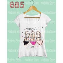 Sapatos Valentino Girl Estampa Luxo Camiseta Feminina Moda