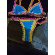Biquini Kini Croche Neon
