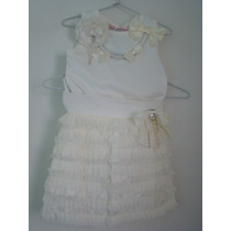 Pituchinhus - Conjunto De Saia E Blusa Branca. Temos Lilica