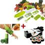 Máquina Para Enrolar Sushi + Nicer Dicer + Descascador Aspir