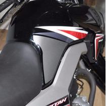 Adesivo Protetor Tanque Lateral Pad Moto Honda Titan Fan 160