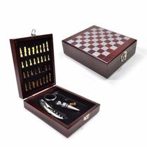 Kit Para Vinho Com Jogo De Xadrez - Presente - Lembrança