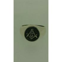 Anel Maçonaria Prata 950