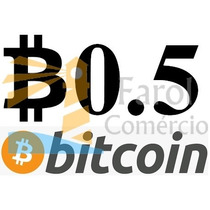0.5 Bitcoin Btc Moeda Virtual Envio Instantâneo Criptomoeda
