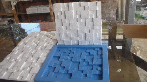 Kit Com 4 Formas De Silicone Para Placa Decorativa 3d