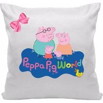 Almofada Peppa Pig Com Nome Personalizado 30x30