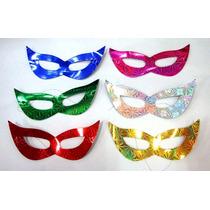 Kit 12 Máscara Gatinha Holográfica - Festa Casamento Balada