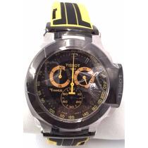 Relógio Vidro Safira Tissot Preto Amarelo Funcional 12x S/j