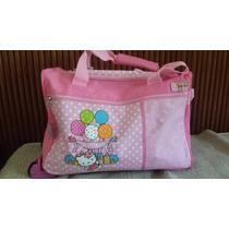Mala Menina Infantil Viagem Rodinha Rosa Hello Kitty (mary)