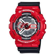 Relogio Casio G-shock Ga-110rd-4 Vermelho Com Preto Ga-110