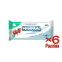 Toalha Umedecida Higifral Com 40 Un. - 6 Pacotes